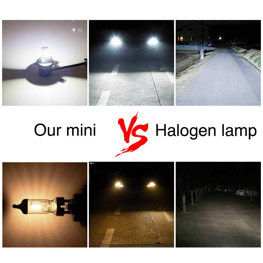 Led moto comparé à l'halogène