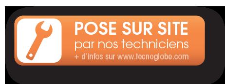Pose sur site par un technicien TecnoGlobe