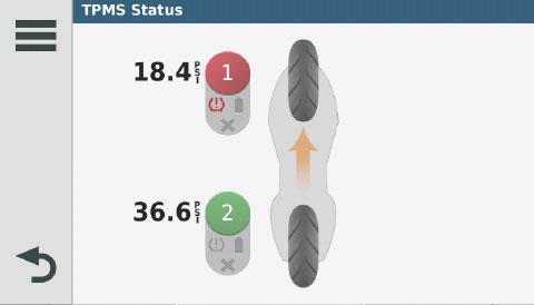 surveillance de pression de pneus moto
